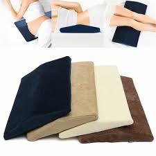 lumbar memory foam pillow triangle sleeping waist back support