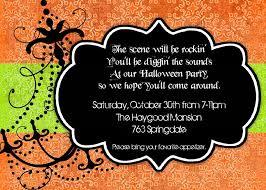 Unique Party Party Invitations Marvellous Halloween Party Invitations Design