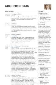 principal architect resume samples visualcv resume samples database