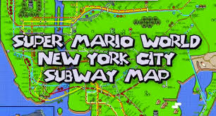 Nyc City Subway Map by New York City Maps Super Mario Kyle Arnett
