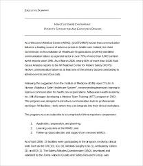 Example Of Executive Summary For Resume by Sample Executive Summary Template Sample Executive Report 6