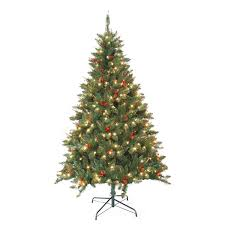 artificial christmas tree pre lit berrywood pine 7 foot artificial christmas tree free