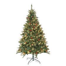 pre lit berrywood pine 7 foot artificial christmas tree free
