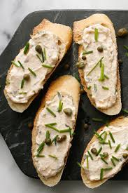 canap au fromage smoked salmon fromage blanc and caper spread recipe canapes