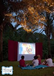 Backyard Movie Night 34 Best Birthday Movie Nights Images On Pinterest Outdoor Movie