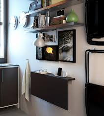 storage awesome small spaces modern wall mounted drop leaf table