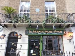 the adventure of the sherlock holmes aficionado chris orcutt 221b left and a sherlock holmes museum shop right holmes s