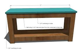 How To Build Wood Bench Ana White Spa Bench Diy Projects