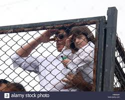 bollywood actor shahrukh khan along with his son abram during the