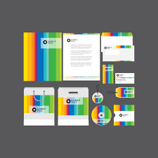 free download layout company profile rainbow company profile template vector free vector download in