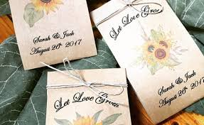 sunflower seed wedding favors sunflower seed favor labels gardening flower and vegetables