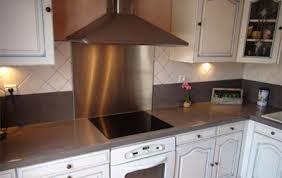 plaque inox cuisine credence de cuisine autocollante 6 inox r233alisation de