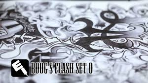 tattoo artist boog from dallas texas tattoo flash art set d