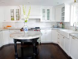 White Kitchen Cabinets With Gray Granite Countertops White Kitchen Cabinets Design Round Shape Pink Kitchen Stool Decor