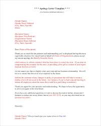 6 sample apology letters u2013 find word letters