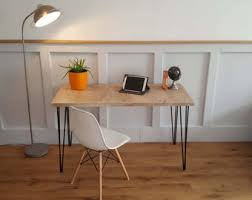 industrial hairpin leg desk vintage hairpin leg kitchen table rustic reclaimed industrial