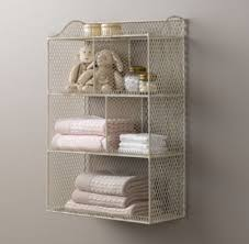 vintage on the shelf vintage wire cubby shelf white