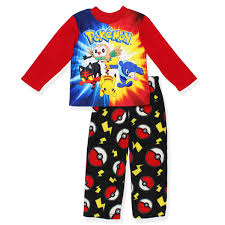 boys fleece pajamas and multicolor top featuring