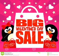 valentines sale big sale s day card with penguins stock vector image