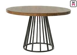 round dining table metal base commercial metal table bases for wood tops round dining table