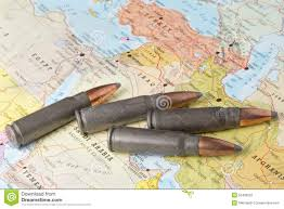 Map Middle East by Bullets On The Map Of Middle East Stock Photo Image 55499225