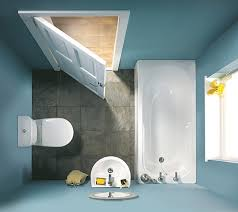 and smart small space bathroom design idea with white