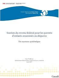 bureau de revenu canada soutien du revenu fédéral pour les parents d enfants assassinés ou