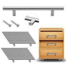 kitchen door furniture 20pcs satin brushed steel t bar handles kitchen door furniture