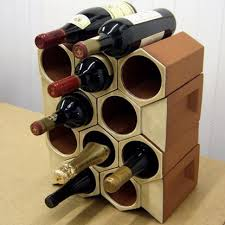 terracotta wine rack 12 bottle keystone set ochre glaze