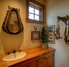 repurposed mirror bathroom beach style with wainscoting fish wall