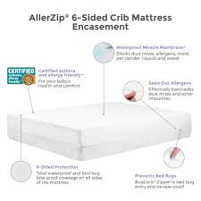 Crib And Mattress by Protect A Bed Allerzip 6 Sided Waterproof Mattress Or Box Spring