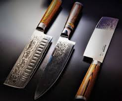 kitchen knife collection nagasaki damascus steel knife collection