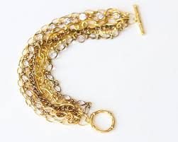 diy gold bracelet images Style and bling diy bracelets made with chains jpg