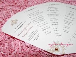 wedding programs diy diy wedding program fan c bertha fashion let s make wedding