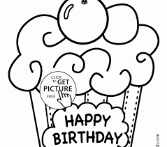 happy birthday coloring coloring pages