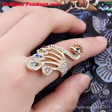 fashion wholesale rings images Female white oval ring fashion jewelry peacock rings for women jpg