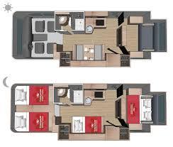 Motorhome Floor Plans 6 Berth Motorhome Interior Kamperi Turizam Pinterest Rv