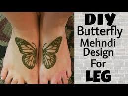 diy butterfly mehndi henna design for leg for festivals mehndi