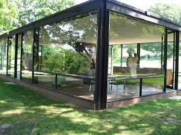 outdoors triumphant at philip johnsons glass house in new canaan