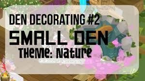 Den Decorating Ideas Animal Jam Speed Den Decorating Small House Den Youtube