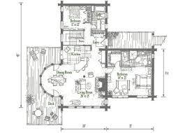 bluff house main level log home floor plan