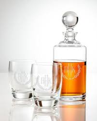 monogrammed barware sets clink barware