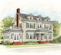 Colonial Revival House Plans Architectural Styles Presentation