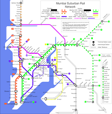 Metro Rail Map by File Mumbai Suburban Rail Map Png Wikimedia Commons