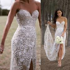 mermaid wedding dress sweetheart mermaid lace wedding dress with slit sash