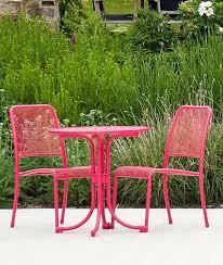 Bistro Chairs Uk Alexander Rose Portofino Garden Bistro Dining Set In Pink