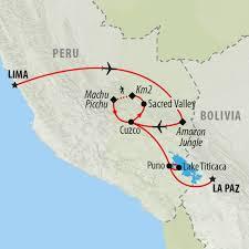 Peru On Map Peru Tours Holidays To Peru On The Go Tours