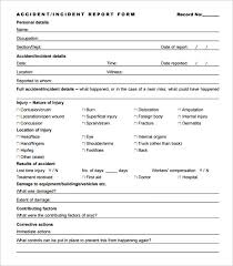 incident report template qld incident report template 32 free word pdf format