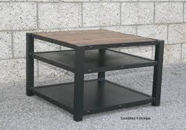 buy a handmade modern industrial end table coffee table steel