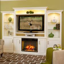 entertainment center with 28 u201d electric fireplace cabinfield fine